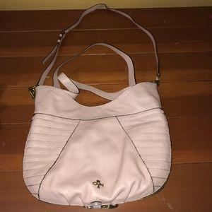 orYANY Light Pink Leather Handbag Shoulder Purse